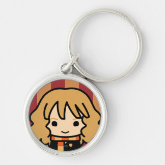 Hermione Granger Cartoon Character Art Silver-Colored Round Key Ring