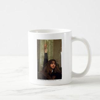 Hermione raises her hand basic white mug