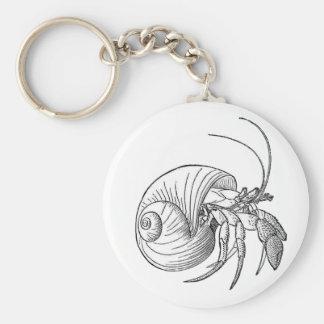 Hermit Crab Illustration (line art) Key Ring