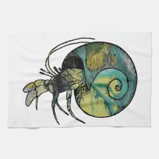 Hermit Crab Tea Towel