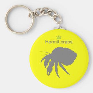 Hermit crabs g5 basic round button key ring