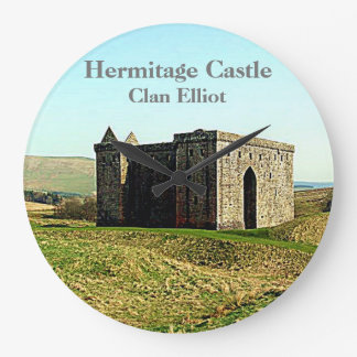 Hermitage Castle –  Clan Elliot Large Clock