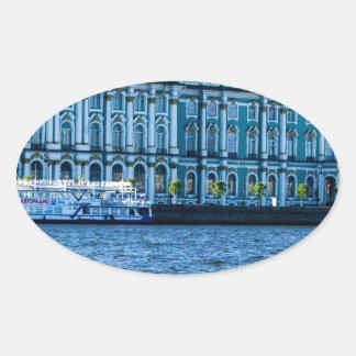 Hermitage Oval Sticker