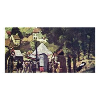 Hermitage, Pontoise By Paul Cézanne (Best Quality) Photo Card