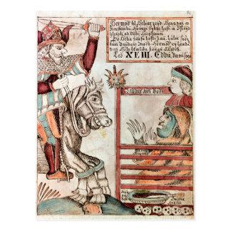 Hermod astride Sleipnir Postcard