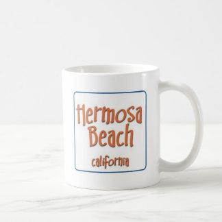 Hermosa Beach California BlueBox Basic White Mug