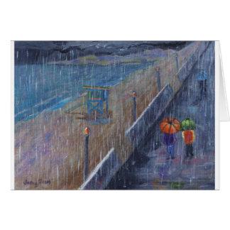 Hermosa Beach Rain Card