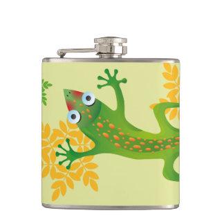 Hermoso lagarto verde, lizard flasks