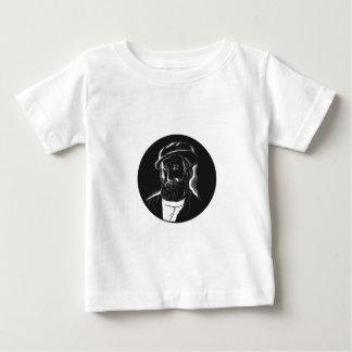 Hernan Cortes Conquistador Woodcut Baby T-Shirt