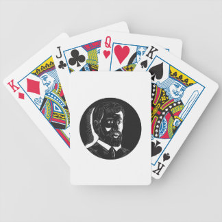 Hernando de Soto Explorer Circle Woodcut Bicycle Playing Cards