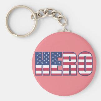 "HERO 2.25"" Basic Button Keychain"
