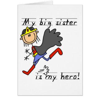 Hero Big Sister Tshirts and Gifts Card