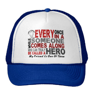 HERO COMES ALONG 1 Friend LUNG CANCER Mesh Hat