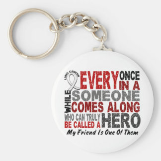 HERO COMES ALONG 1 Friend LUNG CANCER Key Chain