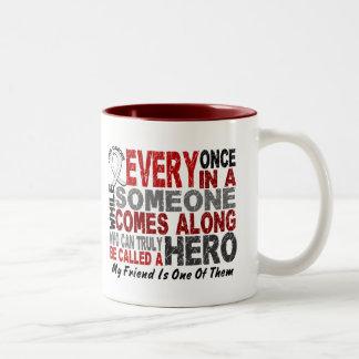 HERO COMES ALONG 1 Friend LUNG CANCER Coffee Mug