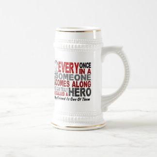 HERO COMES ALONG 1 Friend LUNG CANCER Mug