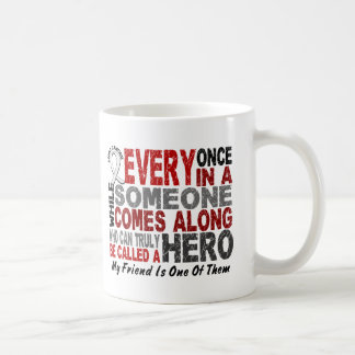 HERO COMES ALONG 1 Friend LUNG CANCER Coffee Mugs