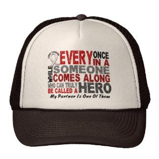HERO COMES ALONG 1 Partner LUNG CANCER Mesh Hat