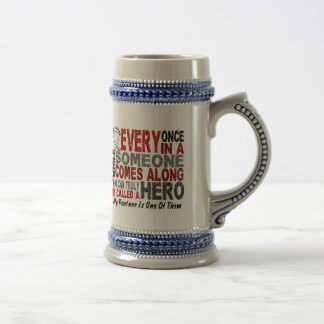 HERO COMES ALONG 1 Partner LUNG CANCER Coffee Mugs