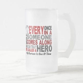 HERO COMES ALONG 1 Partner LUNG CANCER Mugs