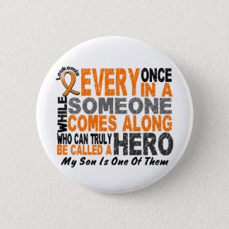 HERO COMES ALONG 1 Son LEUKEMIA T-Shirts 6 Cm Round Badge