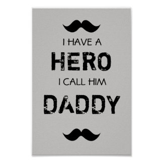 Hero daddy poster