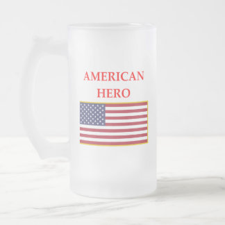 HERO FROSTED GLASS BEER MUG