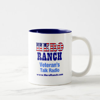 Hero Ranch Veteran's Talk Radio! Two-Tone Coffee Mug