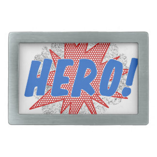 Hero star design rectangular belt buckles