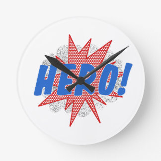 Hero star design round clock