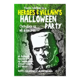 Hero Villian Halloween Party Invitation