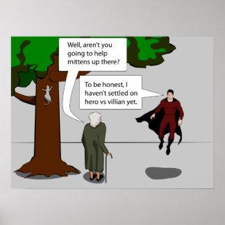 Hero vs Villian Posters