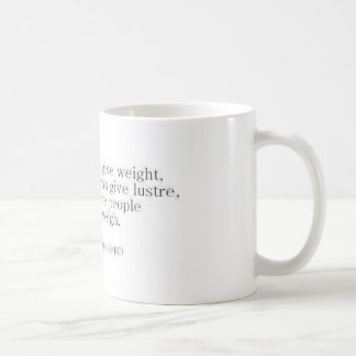 Herodotus on Knowledge vs. Accomplishments Coffee Mug