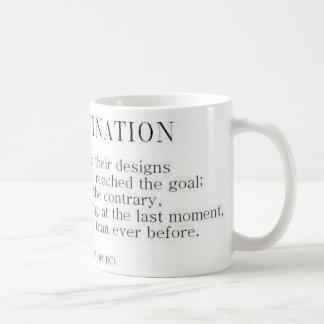 Herodotus on Procrastination Basic White Mug