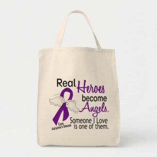 Heroes Become Angels Alzheimer's Disease Grocery Tote Bag