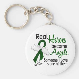 Heroes Become Angels Liver Cancer Key Ring