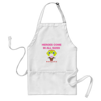 Heroes Come In All Sizes-Cute Monkey-Morocko Standard Apron