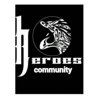 Heroes community postcard