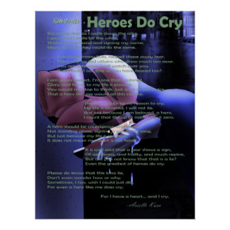 """""""Heroes Do Cry"""" Poster"""