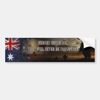 Heroes never die Australia Auto Sticker