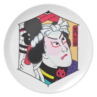Heroes of the Ages: Shinmon Tatsugoro Dinner Plate