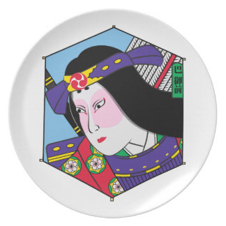 Heroes of the Ages: Tomoe Gozen Dinner Plates