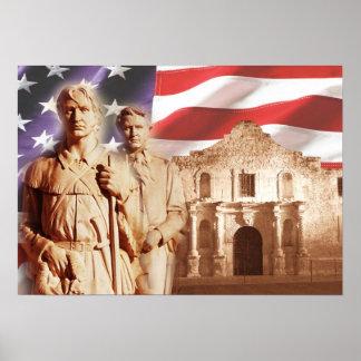Heroes of The Alamo, San Antonio, Texas Poster