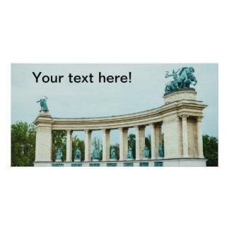Heroes' Square, Budapest Custom Photo Card