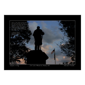 Heroes Tribute - Lincoln Quote Postr - Gettysburg Poster