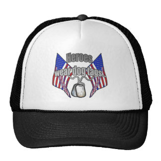 Heroes wear dog tags 2 hat