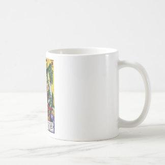 Heroic Blonde Rides a Dinosaur Coffee Mug