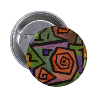 Heroic Roses by Paul Klee 6 Cm Round Badge
