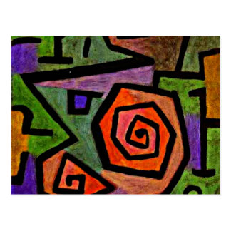 Heroic Roses, Klee art Postcard