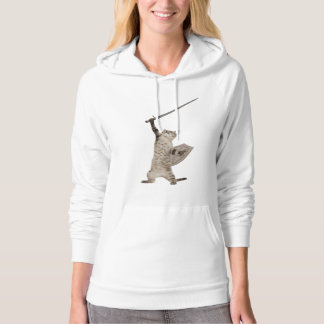Heroic Warrior Knight Cat Hoodie